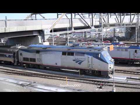 New Haven CT Railfanning W/Ex NJT P40's! 3.11.16