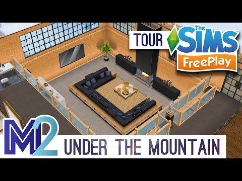Sims FreePlay - House In & Under Mountain (Original Design)