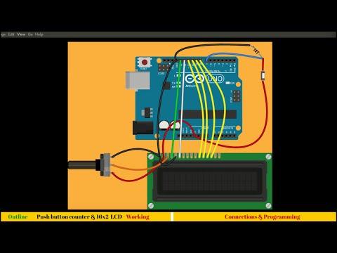 10. Interfacing 16x2 LCD with Arduino to make a counter