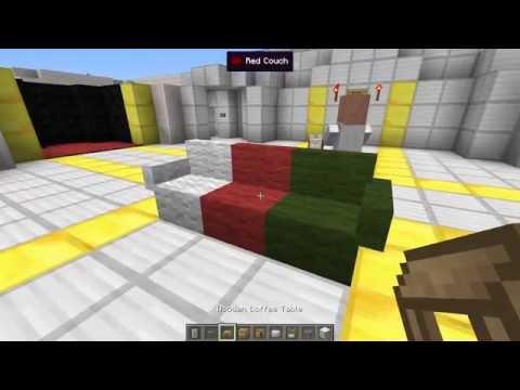 Minecraft | FURNITURE MOD! (Sofa, TV, Computer, Bathroom & More!) | Mod Showcase