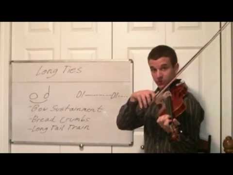 Learn Violin Rhythm in Music - Musical Ties and Bow Sustainment