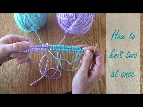 How to knit two at once in the round: Learn to cast on two matching knits at once