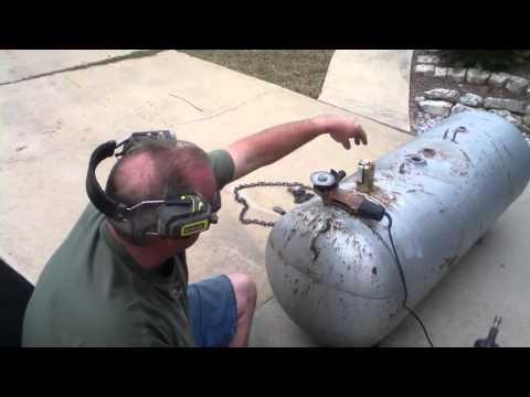 Cut propane tank