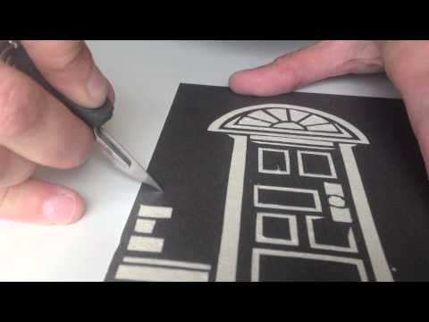 How Bláth was made: a cut paper set using Daler Rowney mounting board