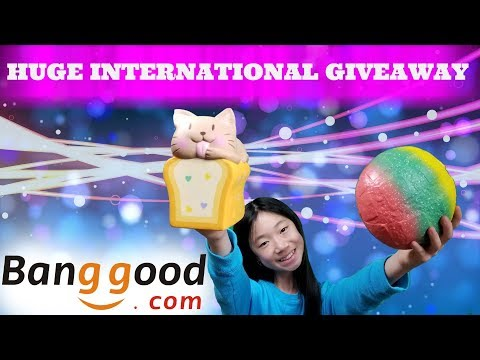 HUGE INTERNATIONAL GIVEAWAY & AWESOME SQUISHY PACKAGE FROM BANGGOOD.COM KAWAII SQUISHIES