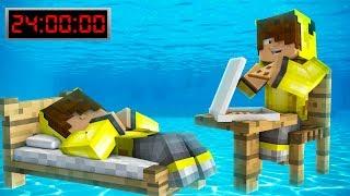 24 SAAT SUYUN ALTINDA KALDIM! 😱 - Minecraft
