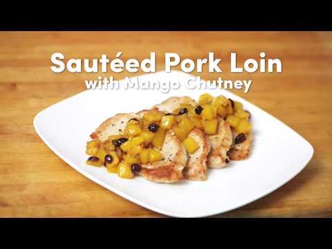 Sautéed Pork Loin with Mango Chutney