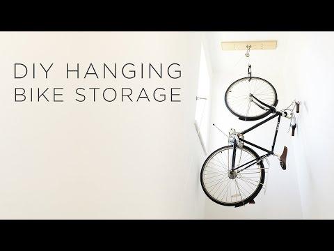DIY Hanging Bike Storage