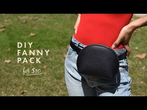EASY DIY Fanny Pack for less than $10! | Alicia Fuller