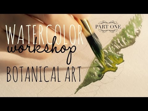How to use Watercolors: Realistic Leaf Painting -  Introduction to advanced watercolour techniques