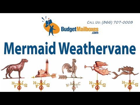 BudgetMailboxes.com | Good Directions 649P Mermaid Weathervane - Polished Copper