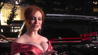 Christina Hendricks Thinks You're Looking at her Hair | Daily Celebrity News | Splash News TV