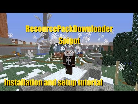 Spigot ResourcePackDownloader Plugin Installation and Use Tutorial