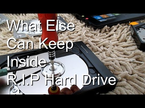 Components Inside Hard Disk Drive - Strong magnet, Disk platter, Read Write Head..