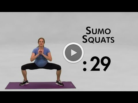 5 Minute Maternity Workout - Second trimester, no equipment needed!