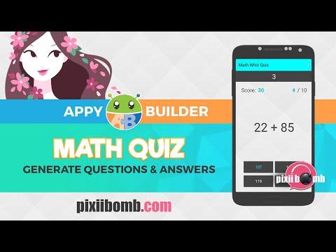 AppyBuilder: [Part 1] Math Whiz Quiz