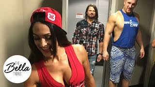 "Nikki Bella and AJ Styles clear the air on the ""dirty look"" birthday cake photobomb"