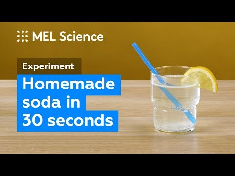 How to make a fizzy drink at home in 30 seconds (DIY Experiment)