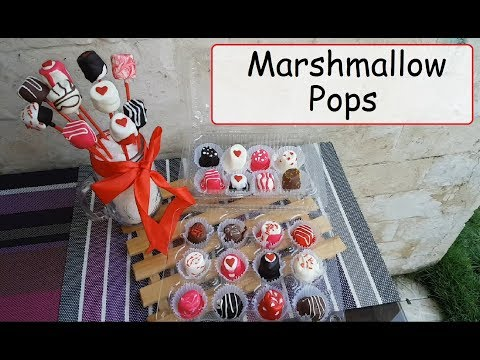 Marshmallow pops | Mallow pops | Chocolate Marshmallow pops | Lollipops