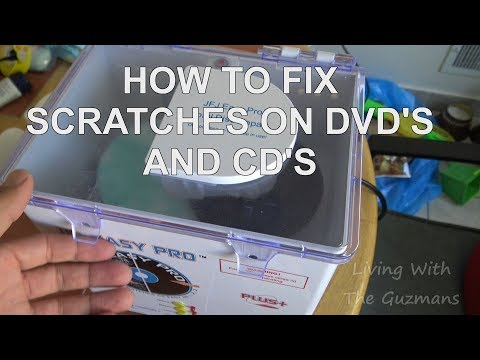 HOW TO FIX SCRATCHES ON DVD'S AND CD'S WITH THE JFJ EASY PRO