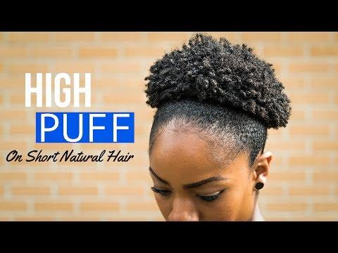 High Puff On Short Natural Hair (4B/4C Hair Texture)