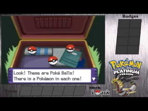 Pokemon Platinum Walkthrough part 1-The Start of A Brand New Journey!