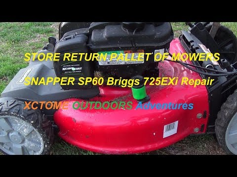 New Snapper SP60 Briggs 725EXi Carburetor Cleaning