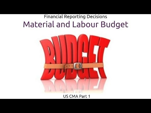 Material and Labour Budget | Financial Reporting Decisions| US CMA Part 1| US CMA course