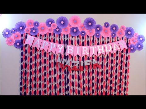 Birthday Decoration Ideas at Home | Decorations for Baby Shower | Party Decoration Ideas |Craftastic