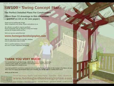 SW100 - Arbor Swing Woodworking Plans - Outdoor Furniture Plans Free