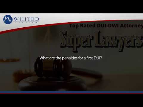 What are the penalties for a first DUI?