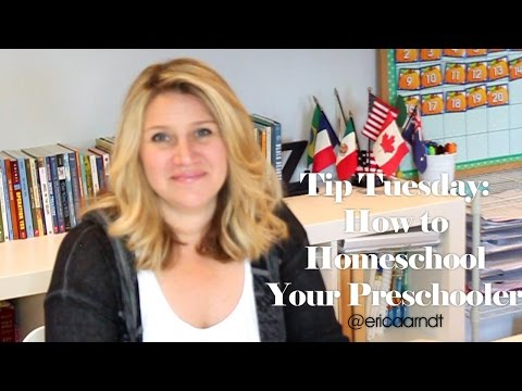 Tip Tuesday:  How to Homeschool Your Preschooler