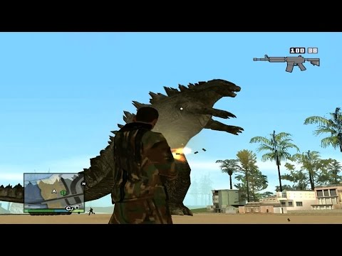 HOW TO INSTALL GTA SAN ANDREAS GODZILLA MOD