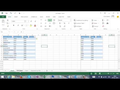 Unpivot a cross tab to a simple list - using Excel Techniques