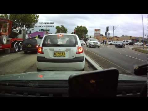 Tosser and RED P plater speeding St Marys NSW Australia