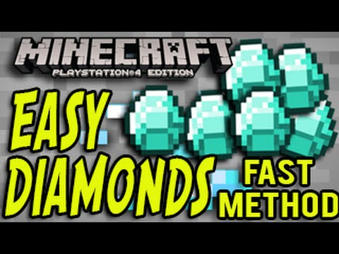Minecraft PS4 - How to Find Diamonds Fast (Minecraft Playstation 4) TUTORIAL
