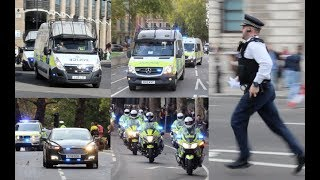 [HUGE RESPONSE] Metropolitan Police in action during big protests in Westminster