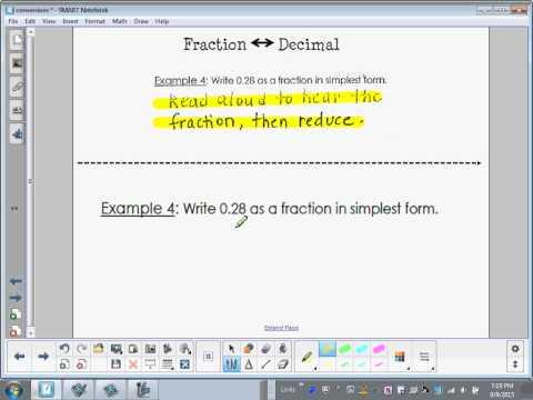 Fractions, Decimals and Percents Foldable