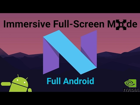 [HOW-TO] Go Full Screen in Full Android Nougat to remove black/grey bars on System & Streaming Apps