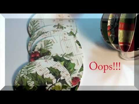 How To Make a Paper Ball Christmas Ornament Blooper