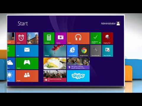 How to change the icon and color of tiles in Windows® 8.1