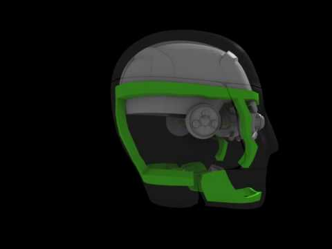 Animation test, (Robot head build spin)