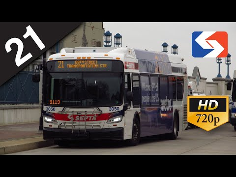 SEPTA Ride: 2017 New Flyer XDE40 on route 21 Penn Landing