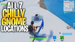 """ALL 7 CHILLY GNOME LOCATIONS - """"Search Chilly Gnomes"""" - (""""Where Are The Chilly Gnomes In Fortnite"""")"""