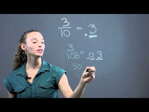 How to Turn a Fraction Into a Decimal Using Denominators of 10 or 100 : Math Questions & Answers