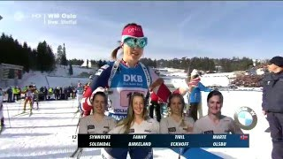 Damen 4x6 km Staffel Biathlon-WM Oslo 2016/ HD