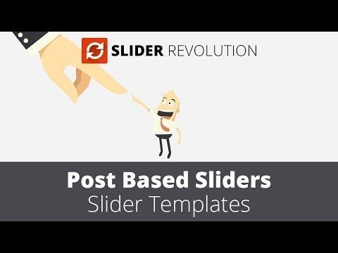 Slider Revolution 4.0 - Post based Slider