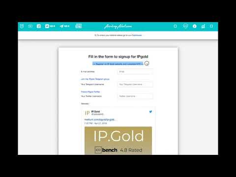 AirdropAlert - How to join FREE IP Gold airdrop!