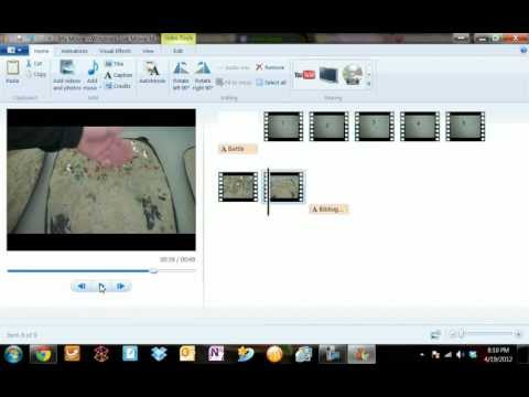 Windows Movie Maker Tutorial #2 Adding Credits and Trimming Clips
