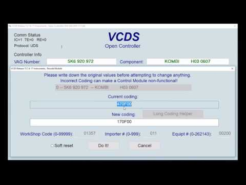VCDS How To - Activate / Deactivate Big Digital Speedo On MFD - VW Golf MK6, Scirocco MK3, Etc.